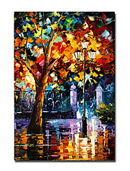 cheap -Oil Painting Handmade Hand Painted Wall Art Colorful People Landscape Abstract Home Decoration Decor Stretched Frame Ready to Hang