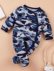 cheap -Baby Boys' Basic Camo / Camouflage Print Long Sleeve Romper Blue