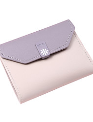 cheap -Women's Bags PU Leather Coin Purse Color Block Daily Outdoor 2021 Purple Blushing Pink Black