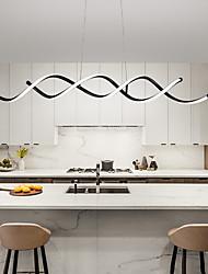 cheap -LED Pendant Light 100 cm Line Design Pendant Light Metal Painted Finishes LED Nordic Style 220-240V