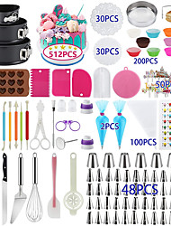 cheap -Cake Decorating Supplies 512 Pcs Docgrit Cake Decorating Kit with Non-Slip Cake Turntable Cake Pans Cake Decorating Tools Muffin Cups Baking Supplies and Baking Set for Beginners and Cake Lovers