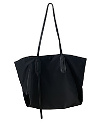 cheap -atmospheric simple nylon canvas bag women's shoulder bag large capacity bag black net red casual tote bag wild ins
