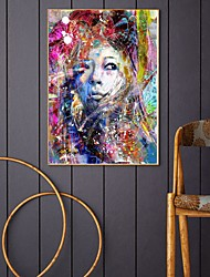 cheap -Wall Art Canvas Prints Painting Artwork Picture Beauty Abstract People Woman Home Decoration Décor Rolled Canvas No Frame Unframed Unstretched
