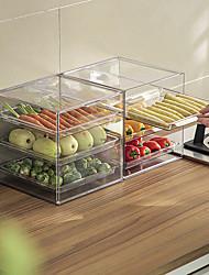 cheap -Desktop Storage Box Kitchen Vegetables And Fruits Can Be Stacked Storage Box Storage Box Refrigerator Storage Box Division Storage Box