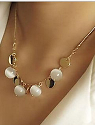 cheap -Women's Pearl Necklace Classic Flower Boho Alloy Gold 45+5 cm Necklace Jewelry 1pc For Street Birthday Party Festival