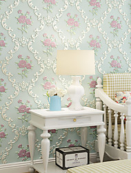 cheap -Wallpaper Wall Cover Sticker Film Peel and Stick Removable Self Adhesive Embossed European Idyll Non Woven Home Decoration 300*53cm