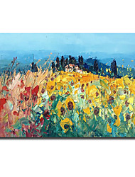 cheap -Oil Painting Handmade Hand Painted Wall Art Modern Knife PaintingSunflower Landscape Home Decoration Decor Rolled Canvas No Frame Unstretched