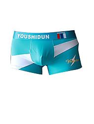 cheap -Men's Basic Boxers Underwear Micro-elastic Low Waist Blue M