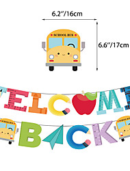 cheap -original spot back to school season theme party decoration supplies school class decoration cake balloon flag set