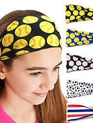 cheap -5 Pcs/set Softball Tennis Sports Headband Sweat Absorbing Headband Men's and Women's Hair Band Yoga Fitness Headband Sports Headband