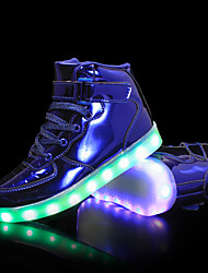 cheap -Boys' Girls' Sneakers LED Comfort LED Shoes PU Little Kids(4-7ys) Big Kids(7years +) Outdoor Lace-up Hook & Loop LED Black Blue Pink Fall