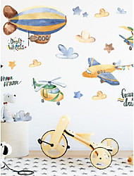 cheap -Children's room decoration wall stickers airplane stickers kindergarten wall decoration self-adhesive wallpaper cartoon painting ProLogis