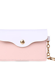cheap -Women's Bags PU Leather Coin Purse Color Block Daily Outdoor 2021 Blue Blushing Pink Gold Green
