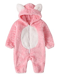 cheap -Baby Unisex Basic Solid Colored Long Sleeve Romper Blushing Pink Dark Gray