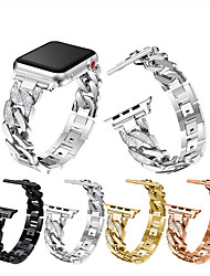 cheap -Smart Watch Band for Apple iWatch 1 pcs Jewelry Design Weave Bracelet Zinc alloy Replacement  Wrist Strap for Apple Watch Series 7 / SE / 6/5/4/3/2/1 42/44/45mm 38/40/41mm