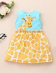 cheap -Toddler Little Girls' Sundress Animal Blue Dresses