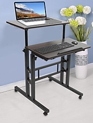 cheap -Modern Coffee Table,60cm Adjustable Height Stand Up Laptop Desk Computer Standing Desk with Rollers Living Room Furniture