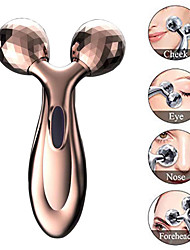 cheap -3D Handheld Face Body Shape Muscle Beauty Tools Slimming Machine Y Shape Massage Roller Ball