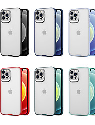 cheap -Phone Case For Apple Back Cover iPhone 12 Pro Max 11 Pro Max iPhone 12 iPhone 11 iPhone 12 Mini Shockproof Dustproof Transparent TPU