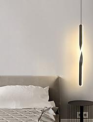 cheap -LED Pendant Light Nordic Bedside Chandelier Modern Simple Living Room Background Wall Bar Chandelier Bedroom Art Design Extremely Simple Long Chandelier