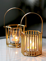 cheap -soft time cross-border amazon hollow candle cup gold light luxury creative ornaments pumpkin lantern iron candle holder
