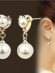 cheap -Women's Pearl Earrings Geometrical Fashion Stylish Earrings Jewelry Gold For Anniversary Gift Date 1 Pair