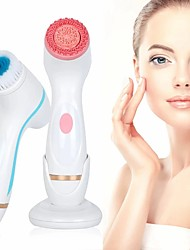 cheap -Face Cleansing Brush Sonic Facial Cleansing Brush Spin Brush Set Spa System Skin for Deep Cleaning Remove Blackhead Machine Blue Pink