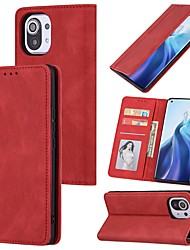 cheap -Phone Case For Xiaomi Full Body Case Mi 11 Mi 10 Redmi Note 9 4G Redmi Note 9 5G Redmi Note 8 Redmi Note 8 Pro Redmi 9 Redmi 9A Mi 10T Lite 5G Redmi Note 10 Wallet Shockproof Dustproof Solid Colored