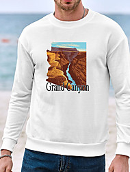cheap -Men's Unisex Sweatshirt Scenery Graphic Prints Tires Casual Daily Holiday Hot Stamping Casual Designer Hoodies Sweatshirts  Long Sleeve White