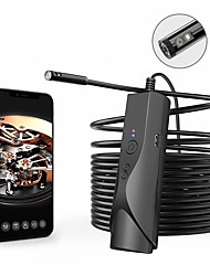 cheap -Borescope 5.0m(16Ft) Wifi Endoscope Camera for Android iOS Smartphones 2 mp Recording Image and Video Function Portable LED Light IP67 Waterproof Dual Camera Pipeline 30-80 mm 5M