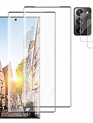 """cheap -[2+2 pack] for samsung galaxy note 20 ultra hd tempered glass screen protector+camera lens protector [hd clear][9h hardness][fingerprint unlock][3d touch sensitive][edge full coverage][no bubbles]6.9"""""""