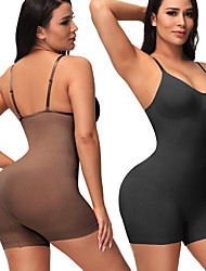 cheap -Shapewear Traceless Abdominal Conjoined Garment High Elastic Open Profile Plastic Body Shaping Garment Body Girdle Thin Breathable Lady