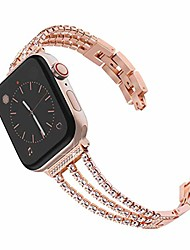 cheap -metal watch strap band compatible with apple watch 38mm 40mm 42mm 44mm stainless steel replacement loop band sport adjustable wristband belt for iwatch series se 6 5 4 3 2 1 for women men