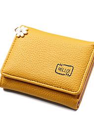cheap -Women's Girls' Bags PU Leather Polyester Coin Purse Zipper Daily Outdoor 2021 Yellow Blushing Pink Gray Green