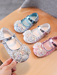 cheap -Girls' Babies' Sandals Comfort Flower Girl Shoes Princess Shoes Rubber PU Fashion Sandals Toddler(9m-4ys) Little Kids(4-7ys) Daily Home Blue Pink Silver Spring Summer