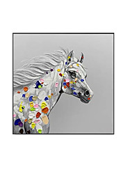 cheap -Oil Painting Handmade Hand Painted Wall Art Modern Animal Horse Abstract Paintings Home Decoration Decor Stretched Frame Ready to Hang