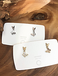 cheap -dongdaemun, south korea, purchase the same earrings, female super fairy temperament, all-match shell butterfly earrings, exquisite and small earrings