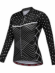cheap -bicycle cycling suit summer women's long sleeve tops quick-drying cycling bicycle road moisture wicking bike service (color : black, size : uk 14)
