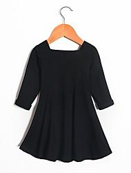 cheap -girls' long sleeve heart back dress, ruby, s (5/6)