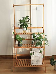 cheap -Multifunctional Multi-layered Wooden Storage Rack Potted Plant Household Office Furniture
