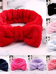 cheap -8 Pcs/set Big Rabbit Ears Coral Fleece Soft Elastic Hairbands SPA Bath Shower Make Up Face Wash headband Hairband Girls Hair Accessories