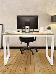 cheap -Modern Coffee Table,47.2 inch Modern Simplistic Computer Desk Office Table Light Walnut White Living Room Furniture