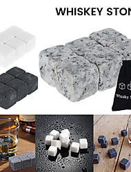 cheap -Whiskey Stone Ice Cube Set Reusable Food Grade Stainless Steel Wine Beverage Chilling Cooling Rock Party Bar Tool Beer Cooler Ice Chest