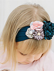 cheap -1pcs Baby Girls' Active / Sweet Daily Wear Floral Floral Style Nylon Hair Accessories Yellow / Blushing Pink / Gray Kid onesize