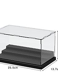 cheap -Acrylic Garage Kit Display Cabinet,Minifigure Four-Color Base Detachable Transparent Board Diy Building Block Display Box Dust