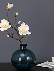 cheap -51cm Touch Small Magnolia Simulation Single Magnolia Lifelike Fake Flower Home Decoration Vase Floor-to-ceiling Flower Arrangement