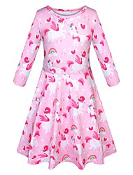 cheap -girls' baby and toddler valentine's day unicorn skater dress, palm pink, 6-9 months