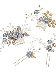 cheap -bridal headdress senmei xianmei light blue pink white flower hair comb hairpin korean wedding dress accessories