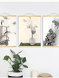 cheap -Poster Frame Wood Frame Hanger Photo Picture Art Print Artwork Wall Hanging Chinese Painting Style