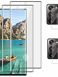 """cheap -[2+2] galaxy note 20 ultra screen protector, 9h tempered glass with camera lens protector,fingerprint unlock,anti-scratch, 3d curved hd glass film for samsung note 20 ultra 5g (6.9"""")"""